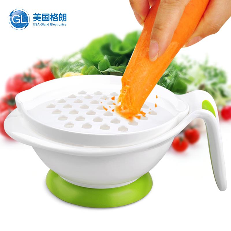 GL格朗辅食研磨器婴儿宝宝辅食工具儿童餐具 食物研磨碗8件套装
