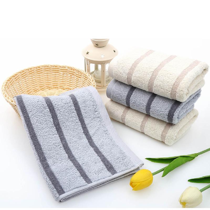 金号(KINGSHORE)纯棉毛巾  欧式条纹 商务家庭面巾 HY-8501 均色三条装