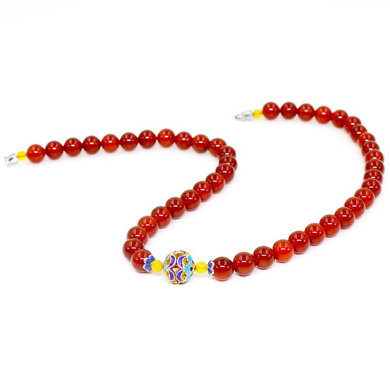 俪语琳红玛瑙项链 红色 红玛瑙项链